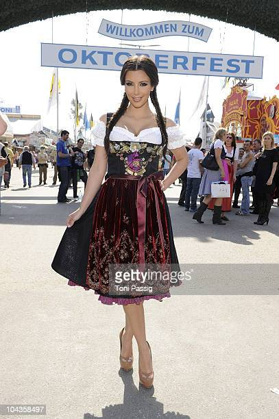 Lola Paltinger/Lolipop and Alpenrock visits the Oktoberfest 2010 at Hippodrom at the Theresienwiese during her Munich visit on September 22 2010 in...