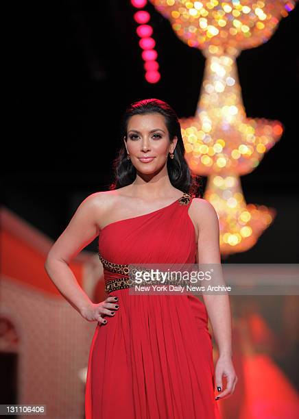 Kim Kardashian walks down the aisle at the Heart Truth's Red Dress Collection 2009 show at the Tent at Bryant Park