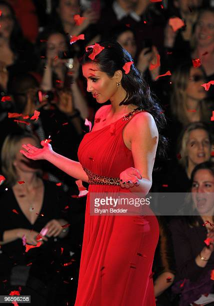 Kim Kardashian walks the runway during the Heart Truth Fall 2010 Fashion Show during MercedesBenz Fashion Week at The Tent at Bryant Park on February...