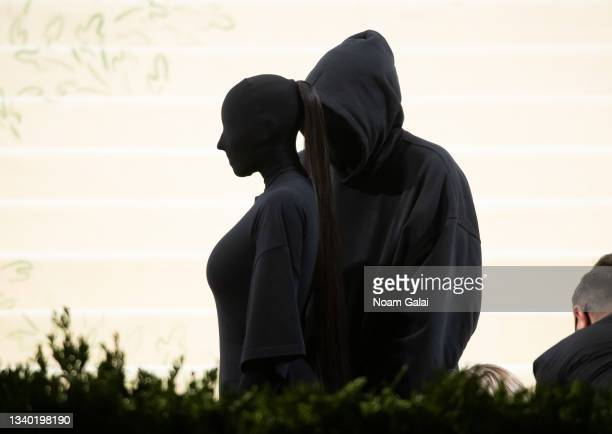 Kim Kardashian West and Demna Gvasalia attend the 2021 Met Gala celebrating 'In America: A Lexicon of Fashion' at The Metropolitan Museum of Art on...