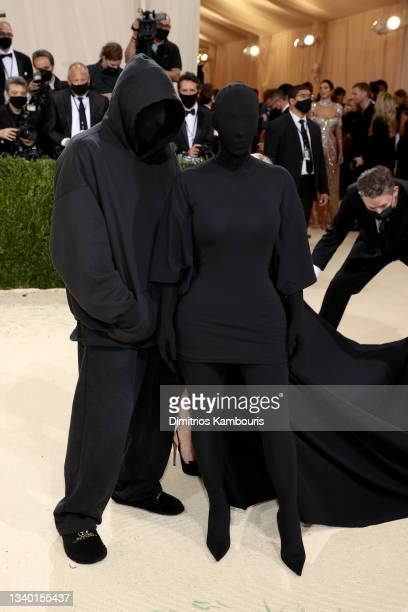 Kim Kardashian West and Demna Gvasalia attends The 2021 Met Gala Celebrating In America: A Lexicon Of Fashion at Metropolitan Museum of Art on...