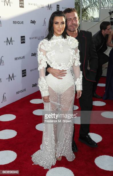 Kim Kardashian West and Honoree Mert Alas attend the Daily Front Row's 3rd Annual Fashion Los Angeles Awards at Sunset Tower Hotel on April 2 2017 in...