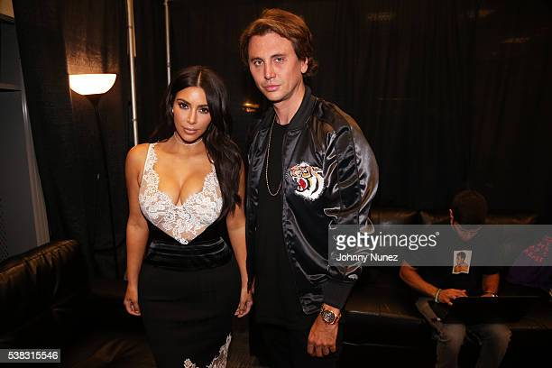 Kim Kardashian West and Jonathan Cheban backstage at Hot 97's Summer Jam 2016 at MetLife Stadium on June 5 2016 in East Rutherford New Jersey