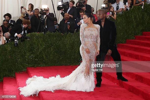 Kim Kardashian West and Kanye West attend 'China Through the Looking Glass' the 2015 Costume Institute Gala at Metropolitan Museum of Art on May 4...