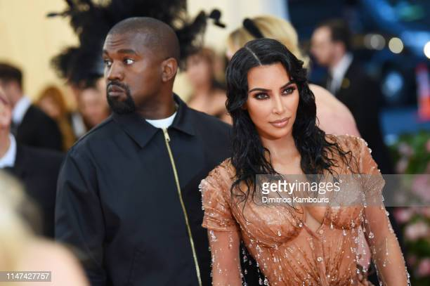 Kim Kardashian West and Kanye West attend The 2019 Met Gala Celebrating Camp Notes on Fashion at Metropolitan Museum of Art on May 06 2019 in New...