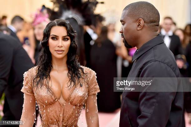 Kim Kardashian West and Kanye West attend The 2019 Met Gala Celebrating Camp: Notes on Fashion at Metropolitan Museum of Art on May 06, 2019 in New...