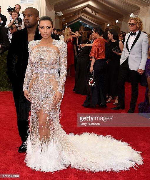 "Kim Kardashian West and Kanye West attend the ""China: Through The Looking Glass"" Costume Institute Benefit Gala at the Metropolitan Museum of Art on..."