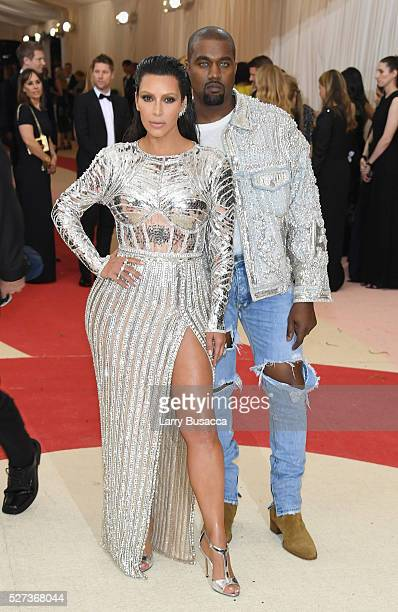Kim Kardashian West and Kanye West attend the 'Manus x Machina Fashion In An Age Of Technology' Costume Institute Gala at Metropolitan Museum of Art...