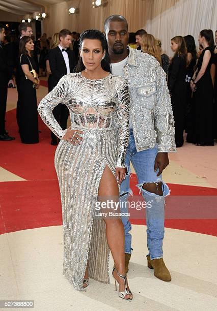 Kim Kardashian West and Kanye West attend the Manus x Machina Fashion In An Age Of Technology Costume Institute Gala at Metropolitan Museum of Art on...
