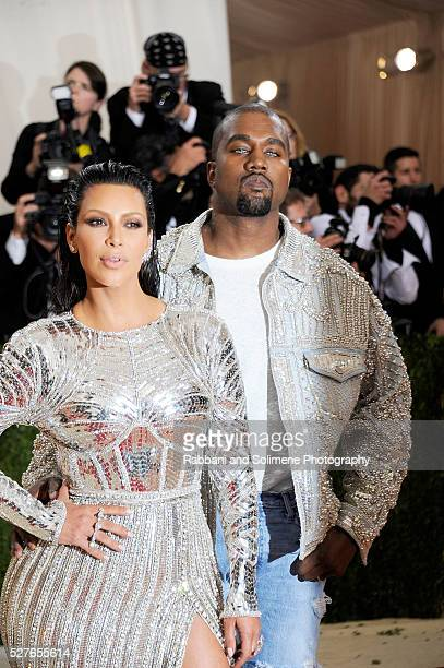Kim Kardashian West and Kanye West attends 'Manus x Machina Fashion In An Age Of Technology' Costume Institute Gala at