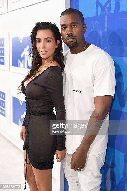 Kim Kardashian West and Kanye West attends the 2016 MTV Video Music Awards at Madison Square Garden on August 28 2016 in New York City