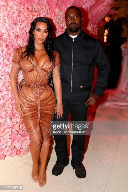 Kim Kardashian West and Kanye West attends The 2019 Met Gala Celebrating Camp Notes on Fashion at Metropolitan Museum of Art on May 06 2019 in New...