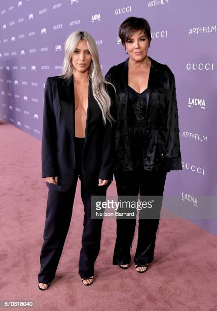 Kim Kardashian West and Kris Jenner attend the 2017 LACMA Art Film Gala Honoring Mark Bradford and George Lucas presented by Gucci at LACMA on...