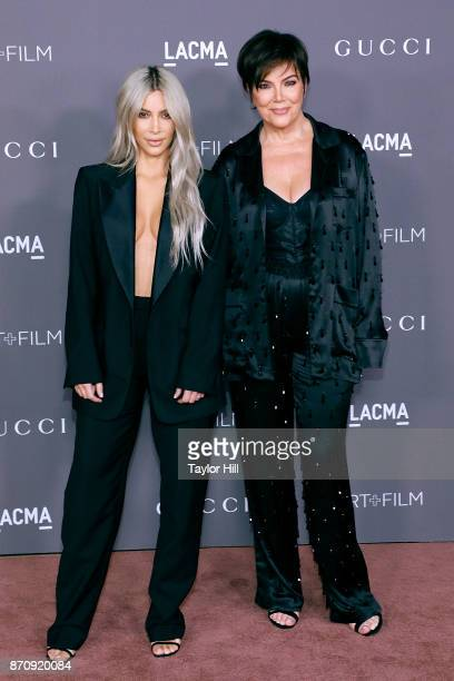 Kim Kardashian West and Kris Jenner attend the 2017 LACMA Art Film Gala on November 4 2017 in Los Angeles California