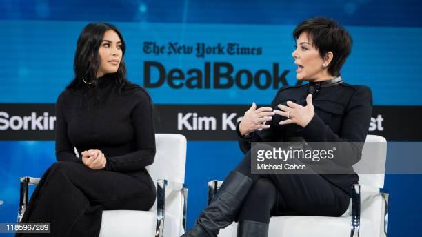 Kim Kardashian West and Kris Jenner speak onstage at 2019 New York Times Dealbook on November 06 2019 in New York City