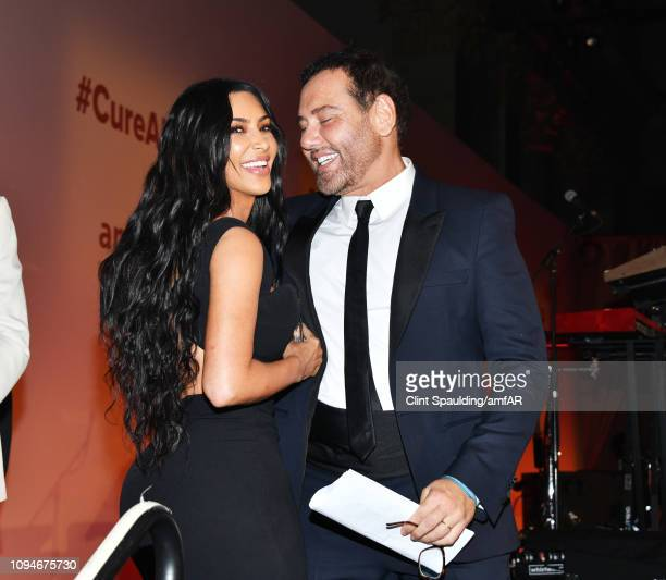 Kim Kardashian West and Mert Alas attends the amfAR New York Gala 2019 at Cipriani Wall Street on February 6 2019 in New York City