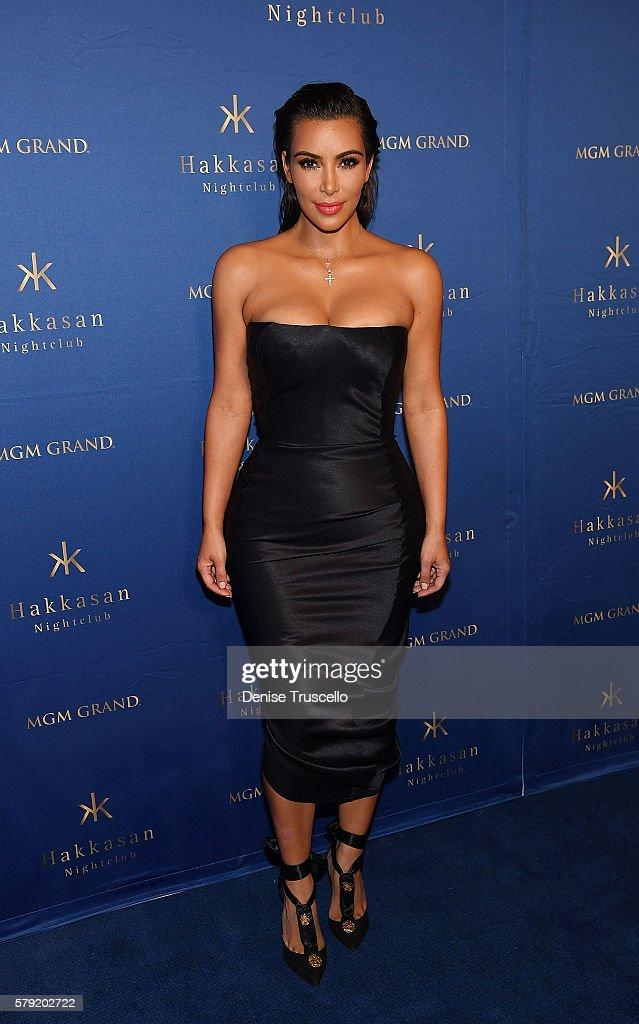 Kim Kardashian West arrives at Hakkasan Las Vegas Nightclub inside MGM Grand on July 22, 2016 in Las Vegas, Nevada.