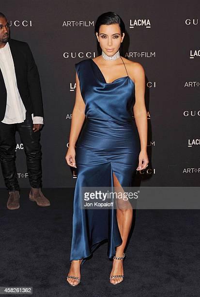 Kim Kardashian West arrives at the 2014 LACMA Art Film Gala Honoring Quentin Tarantino And Barbara Kruger at LACMA on November 1 2014 in Los Angeles...