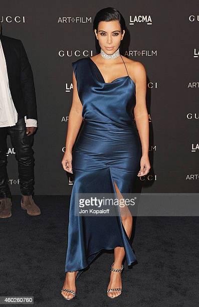 Kim Kardashian West arrives at the 2014 LACMA Art + Film Gala Honoring Quentin Tarantino And Barbara Kruger at LACMA on November 1, 2014 in Los...