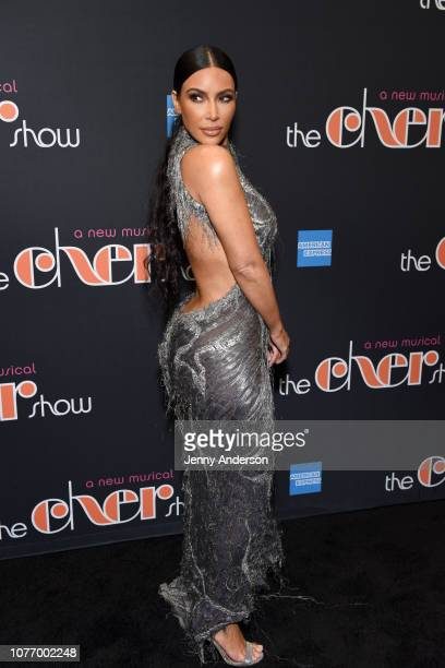 Kim Kardashian West arrives at The Cher Show Broadway Opening Night at Neil Simon Theatre on December 03 2018 in New York City