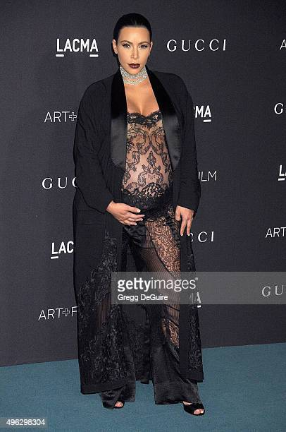 Kim Kardashian West arrives at the LACMA 2015 ArtFilm Gala Honoring James Turrell And Alejandro G Inarritu Presented By Gucci at LACMA on November 7...