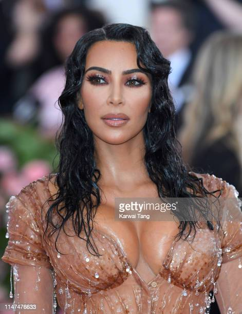 Kim Kardashian West arrives for the 2019 Met Gala celebrating Camp: Notes on Fashion at The Metropolitan Museum of Art on May 06, 2019 in New York...