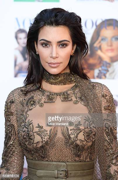 Kim Kardashian West arrives for the Gala to celebrate the Vogue 100 Festival Kensington Gardens on May 23 2016 in London England