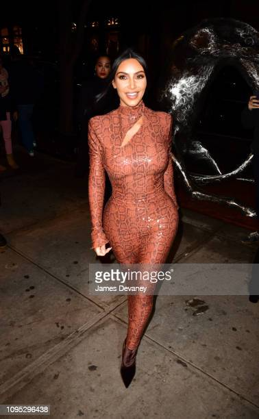 Kim Kardashian West arrives to Cipriani Broadway on February 7, 2019 in New York City.