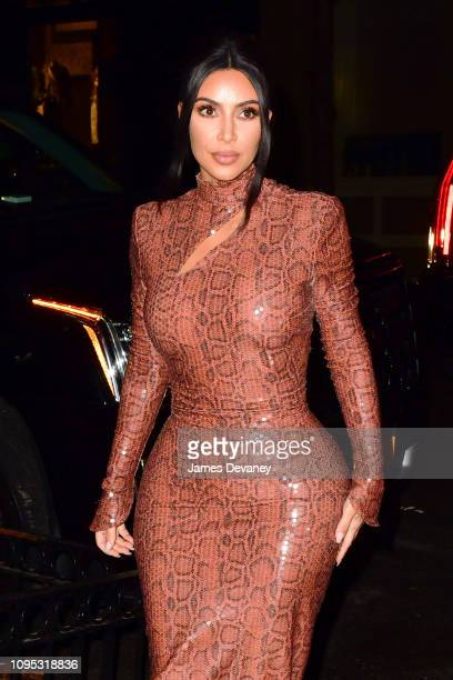 Kim Kardashian West arrives to Cipriani Broadway on February 7 2019 in New York City
