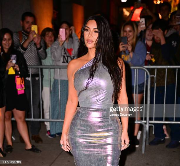 Kim Kardashian West arrives to Fashion Group International's 2019 Night of Stars at Cipriani Wall Street on October 24, 2019 in New York City.