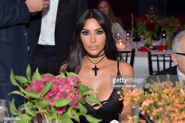 Kim Kardashian West attends 2018 LACMA Art Film Gala honoring Catherine Opie and Guillermo del Toro presented by Gucci at LACMA on November 3 2018 in...