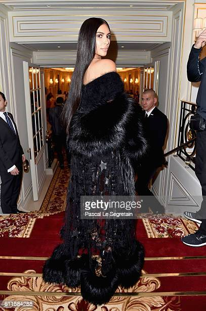 Kim Kardashian West attends Buro 24/7 Fashion Forward Initiative as part of Paris Fashion Week Womenswear Spring/Summer 2016 at Hotel Ritz on...