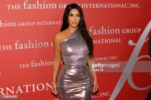 Kim Kardashian West attends Fashion Group International's 2019 Night of Stars at Cipriani Wall Street on October 24, 2019 in New York City.