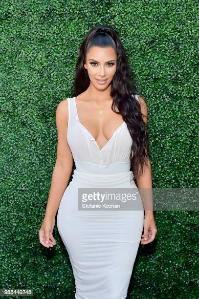 Kim Kardashian West attends KKW Beauty Fan Event at KKW Beauty on June 30 2018 in Los Angeles California