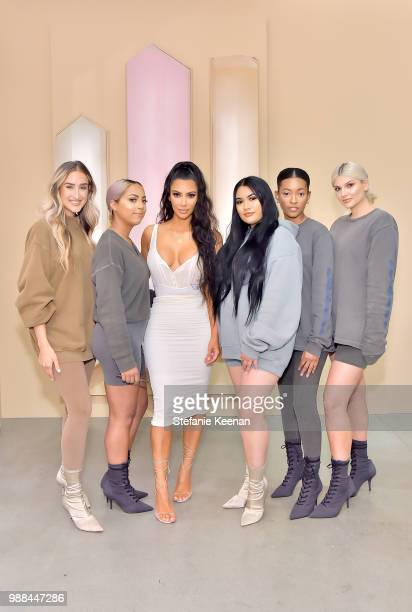 Kim Kardashian West attends KKW Beauty Fan Event at KKW Beauty on June 30, 2018 in Los Angeles, California.