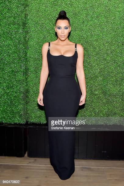Kim Kardashian West attends KKWxMario Dinner at JeanGeorges Beverly Hills on March 31 2018 in Beverly Hills California