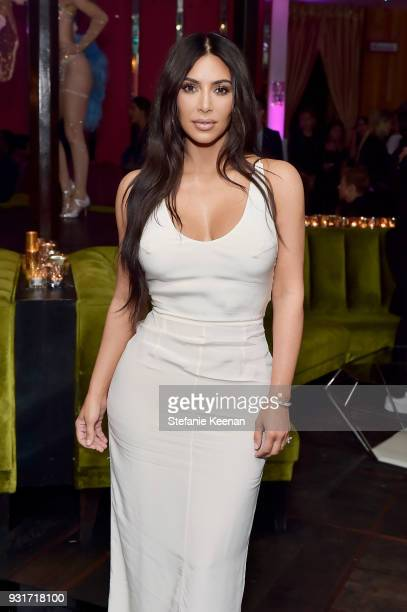 Kim Kardashian West attends Lorraine Schwartz launches The Eye Bangle a new addition to her signature Against Evil Eye Collection at Delilah on March...