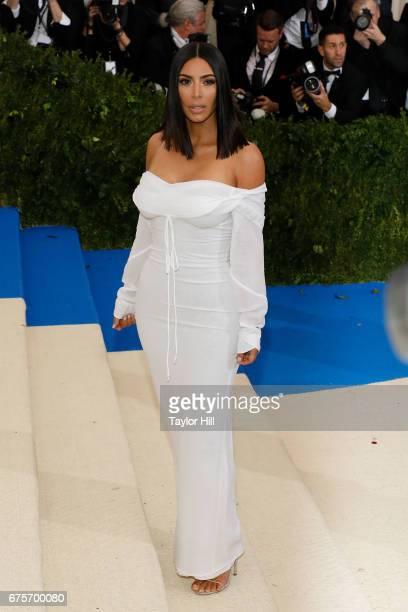 Kim Kardashian West attends Rei Kawakubo/Commes Des Garcons Art of the InBetween at Metropolitan Museum of Art on May 1 2017 in New York City