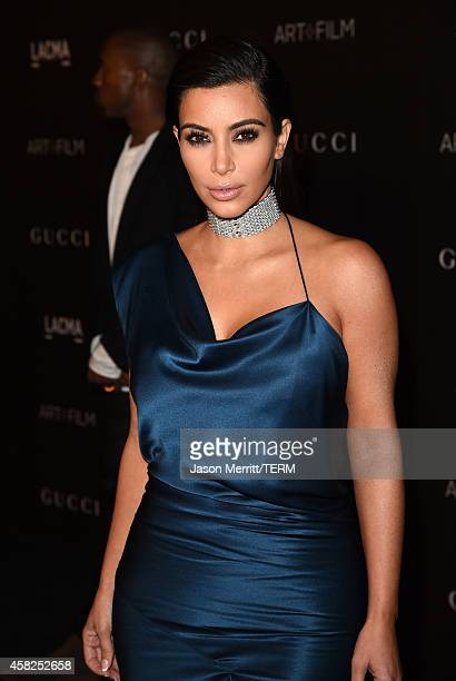 Kim Kardashian West attends the 2014 LACMA Art + Film Gala honoring Barbara Kruger and Quentin Tarantino presented by Gucci at LACMA on November 1,...