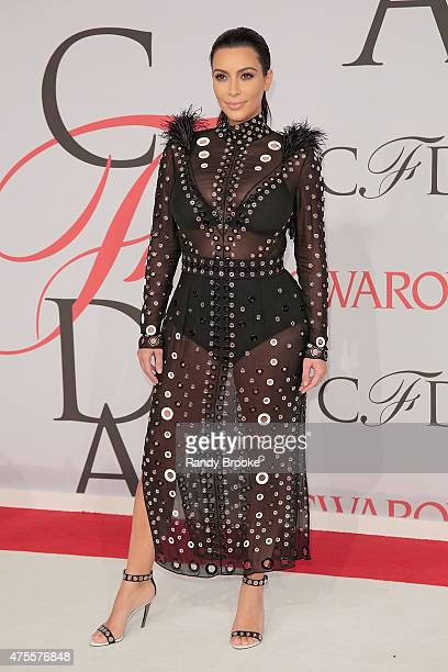 Kim Kardashian West attends the 2015 CFDA Fashion Awards at Alice Tully Hall at Lincoln Center on June 1 2015 in New York City