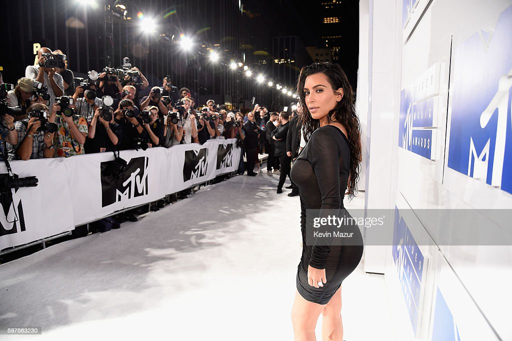 Kim Kardashian West attends the 2016 MTV Video Music Awards at Madison Square Garden on August 28, 2016 in New York City.