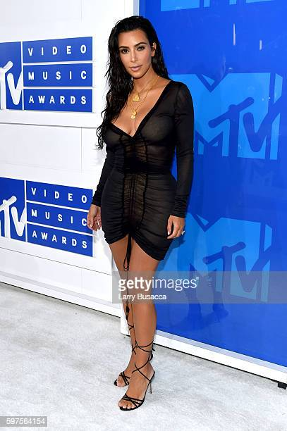Kim Kardashian West attends the 2016 MTV Video Music Awards at Madison Square Garden on August 28 2016 in New York City