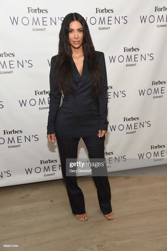 Kim Kardashian West attends the 2017 Forbes Women's Summit at Spring Studios on June 13, 2017 in New York City.