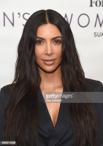 Kim Kardashian West attends the 2017 Forbes Women's Summit at Spring Studios on June 13 2017 in New York City