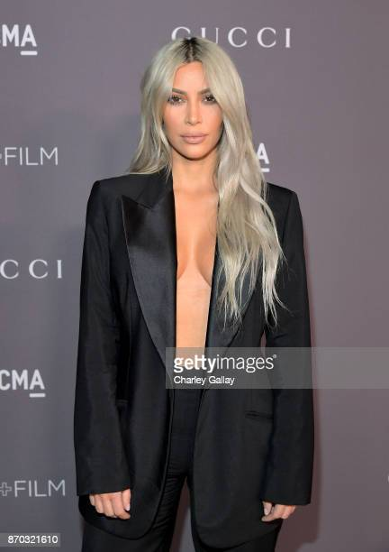 Kim Kardashian West attends the 2017 LACMA Art Film Gala Honoring Mark Bradford and George Lucas presented by Gucci at LACMA on November 4 2017 in...