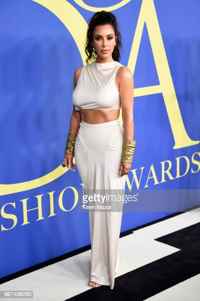 Kim Kardashian West attends the 2018 CFDA Fashion Awards at Brooklyn Museum on June 4, 2018 in New York City.