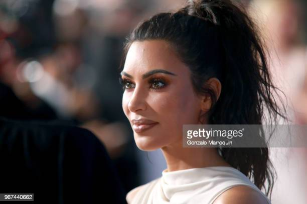 Kim Kardashian West attends the 2018 CFDA Fashion Awards at Brooklyn Museum on June 4 2018 in New York City