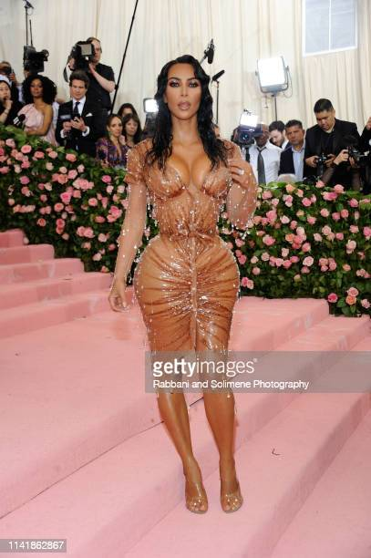 Kim Kardashian West attends The 2019 Met Gala Celebrating Camp Notes On Fashion Arrivalsat The Metropolitan Museum of Art on May 6 2019 in New York...