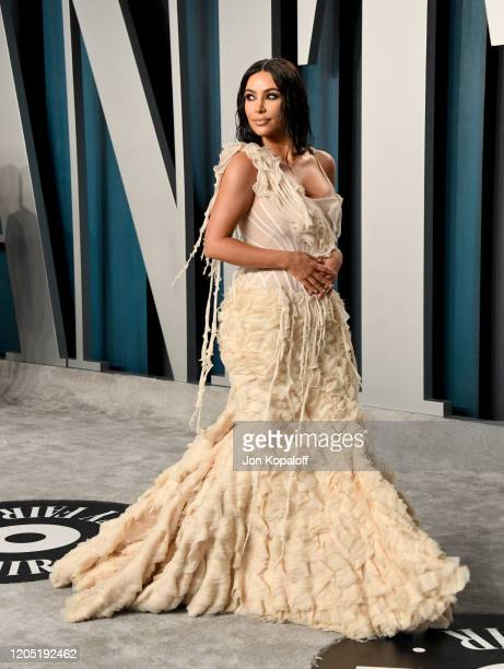 Kim Kardashian West attends the 2020 Vanity Fair Oscar Party hosted by Radhika Jones at Wallis Annenberg Center for the Performing Arts on February...