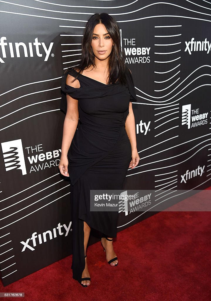 Kim Kardashian West attends the 20th Annual Webby Awards at Cipriani Wall Street on May 16, 2016 in New York City.